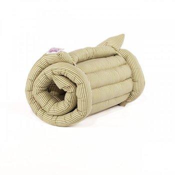 Single Green Stripe Roll Up Bed