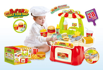 Newest Design Super Mcdonald S Fast Food Shop Toys Kitchen Play Set For Children Play Buy Fast Food Shop Toys Kitchen Set Super Mcdonald S Product