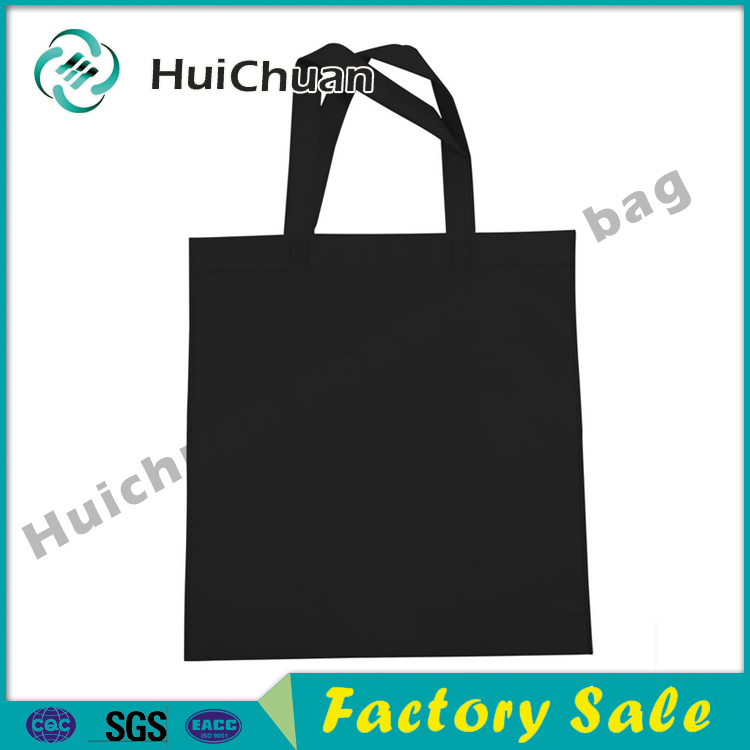 black 100% reusable and recyclable ultrasonic automatically machine made heat sealed bag