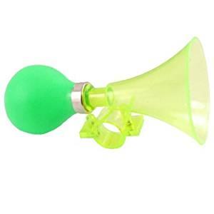 """Dimart Single Rubber Reed Bulb 0.8"""" Diameter Green Plastic Clasp Horn for Bike"""