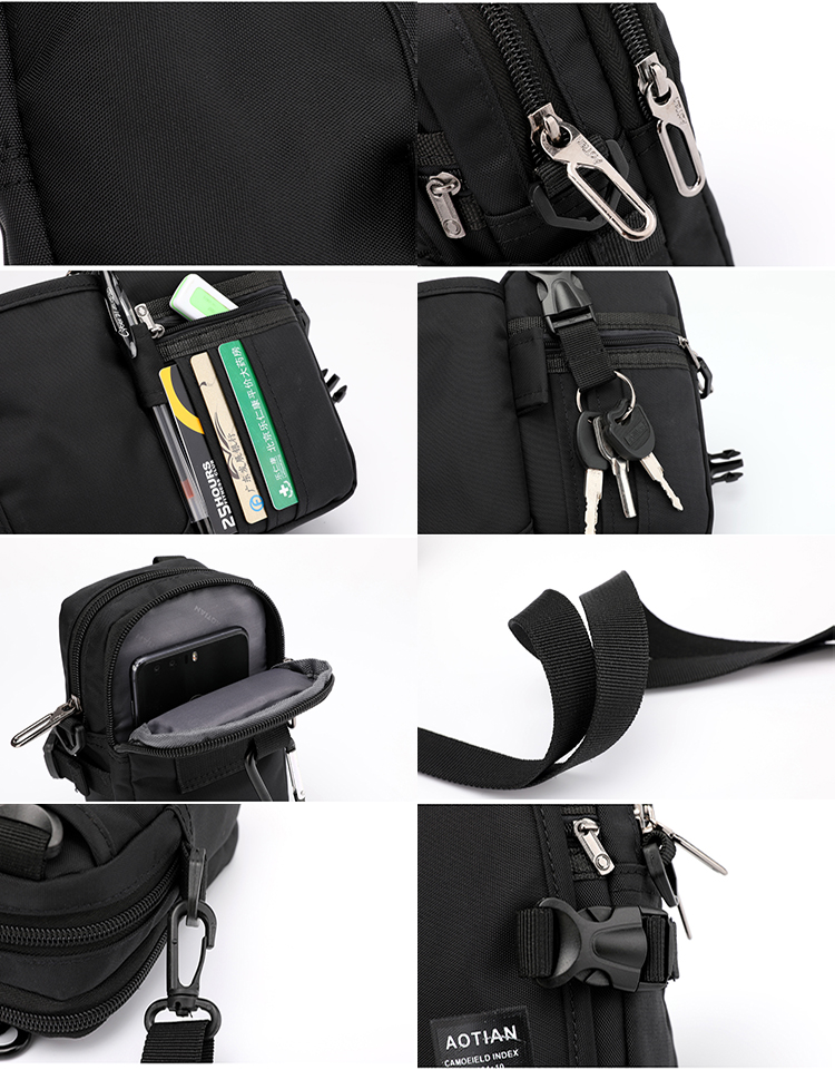 Custom Lightweight Fashion Sport Mini Sling Chest Bag Casual Waterproof Nylon Fanny pack Waist Bag for phone