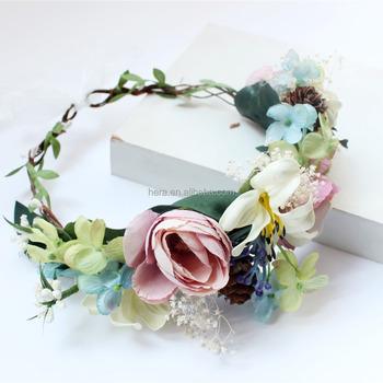 Band Blume Haar Zubehor Neue Design Hochzeit Floral Pfingstrose