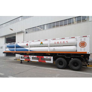 Chinese suppliers Compressed Natural Gas CNG Tanker Trailer 40000L for sale