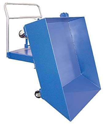 "Beacon Low Profile Parts Hoppers; Volume (Cubic yards): 1/2; Capacity (LBS): 1,500; Overall Size (W x D x H): 48-1/2"" x 57"" x 18""; Usable Size (W x D x H): 48"" x 49"" x 12""; Net Wt. (LBS): 384; Model# BHOP-LP"