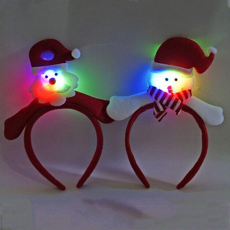 Christmas Party Blinking Flashing Santa Claus Headband font b Fancy b font font b Dress b