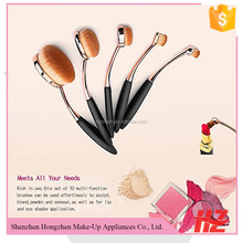 Factory Wholesale 10Pcs Toothbrush Oval Makeup Brush