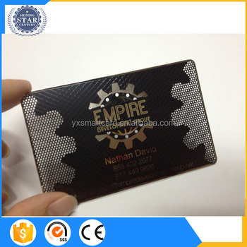 Glossy finish blank black stainless steel business cardhot stamping glossy finish blank black stainless steel business cardhot stamping metal vip card reheart Images