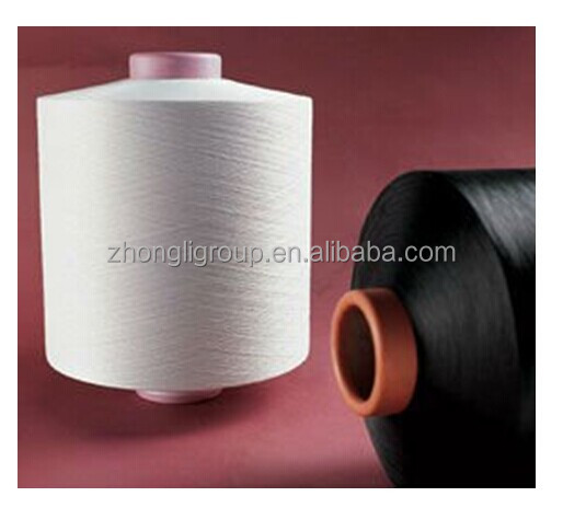 DTY polyester filament yarn 100D 150D 300D optical white & Black sd & bright