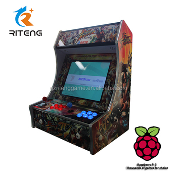 Multi Classic Tabletop Arcade Cabinet Bartop Arcade Game Machines With  Raspberry PI 3