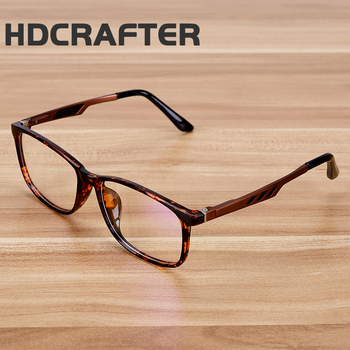 Hdcrafter Gold Glasses Frame Brand Tr90 Titanium Black Leopard ...