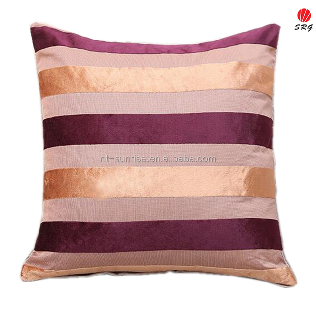 Factory Direct Hot Selling Chenille Stripes Cushion Orange And Purple  Elegant Tulip Chair Cushion