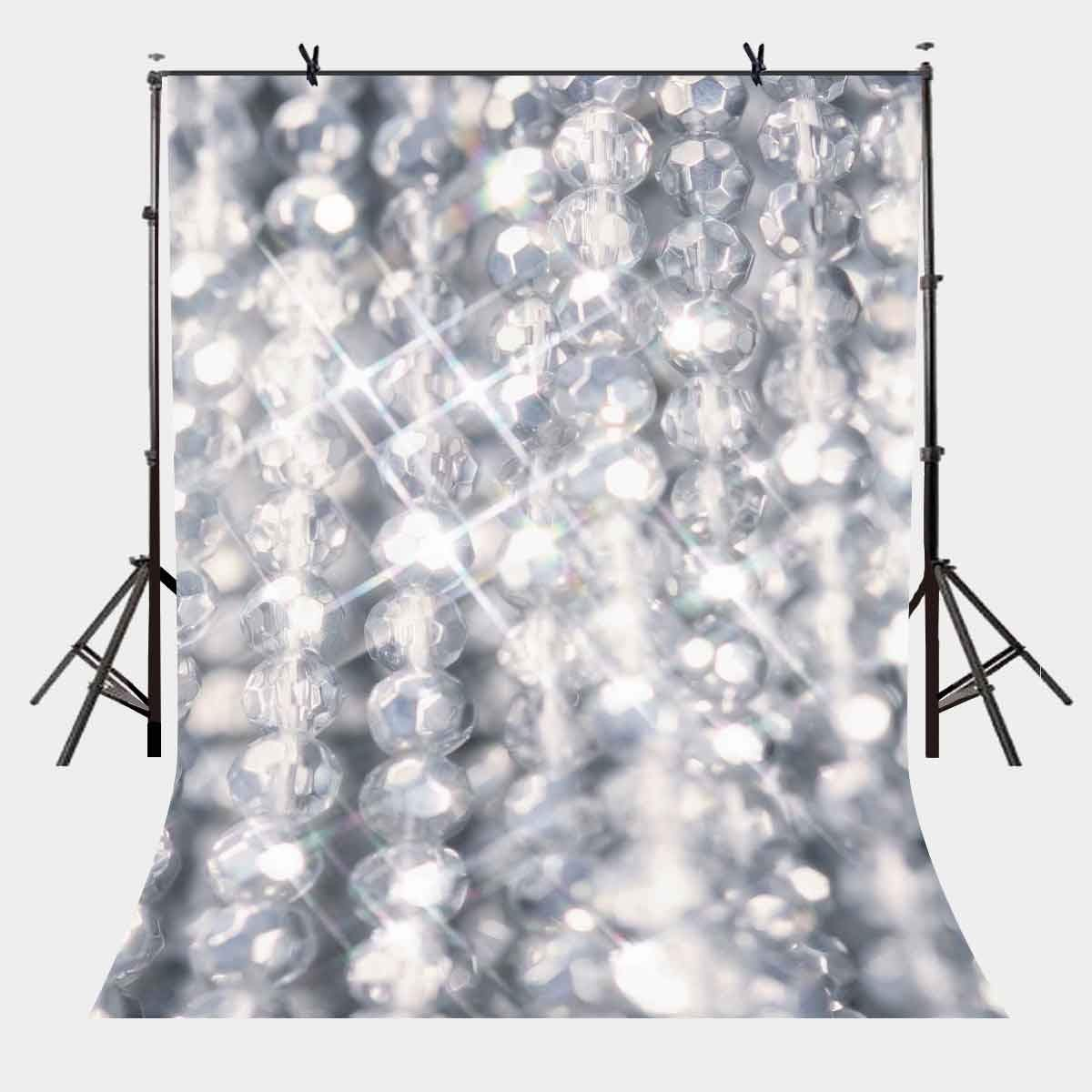 ERTIANANG 5x7ft Shiny Backdrop Shiny Pearl Necklace Photography Background and Studio Photography Backdrop Props