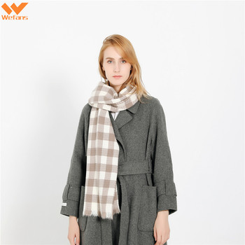 Wefans Autumn and winter hot new simple fashion plaid pattern travel wild tartan plaid cashmere shawl scarf