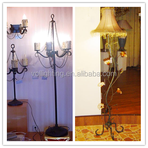 Vintage Floor lamp iron tripod home decor lighting