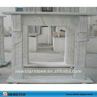 natural hunan white marble fireplace