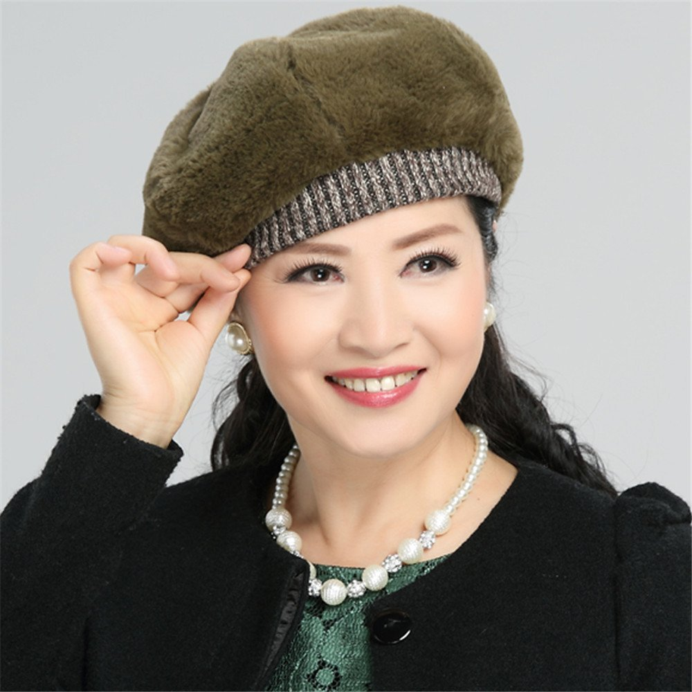 f811dfa3c5a Women set winter cap lady retro casual cap elderly mother ray limpets  painter fashion hat