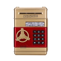Electronic Bank Safe Money Box for Children Digital Coins Cash Saving Safe Deposit ATM Machine Birthday Gift