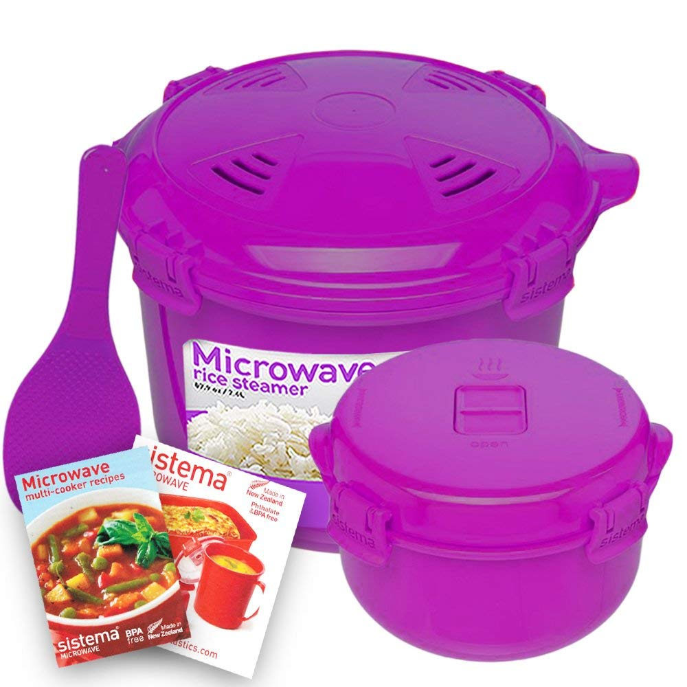 Get Quotations Sistema Microwave Cookware Rice Steamer Set With Lids Large Multicooker Side Dish
