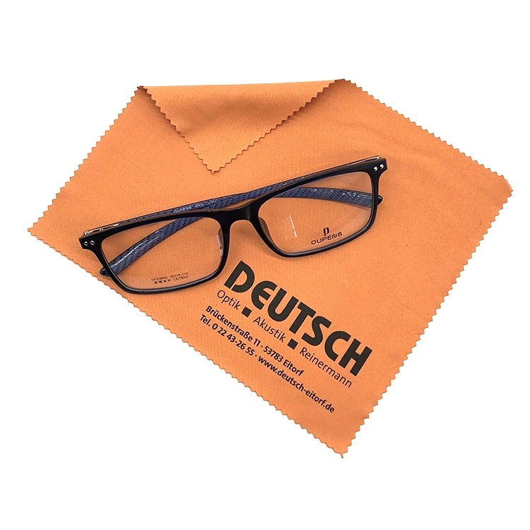 Customized Logo Silkscreen Printing Sunglasses Microfiber Cleaning Cloth In Bulk, Customized color is available