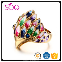 Factory cheap wholesale new product cute colorful animal head high polished personalized jewellery rings women