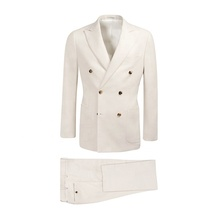 Homme blanc <span class=keywords><strong>manteau</strong></span> <span class=keywords><strong>pantalon</strong></span> hommes conceptions de mariage double boutonnage costume