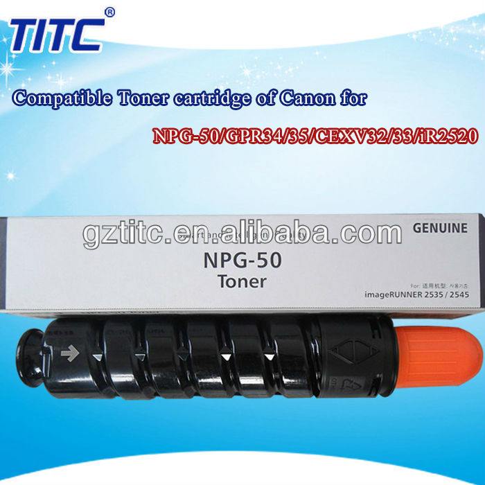 for Canon NPG-50/GPR34/35/CEXV32/33 toner cartridge use in iR2520/ir2525