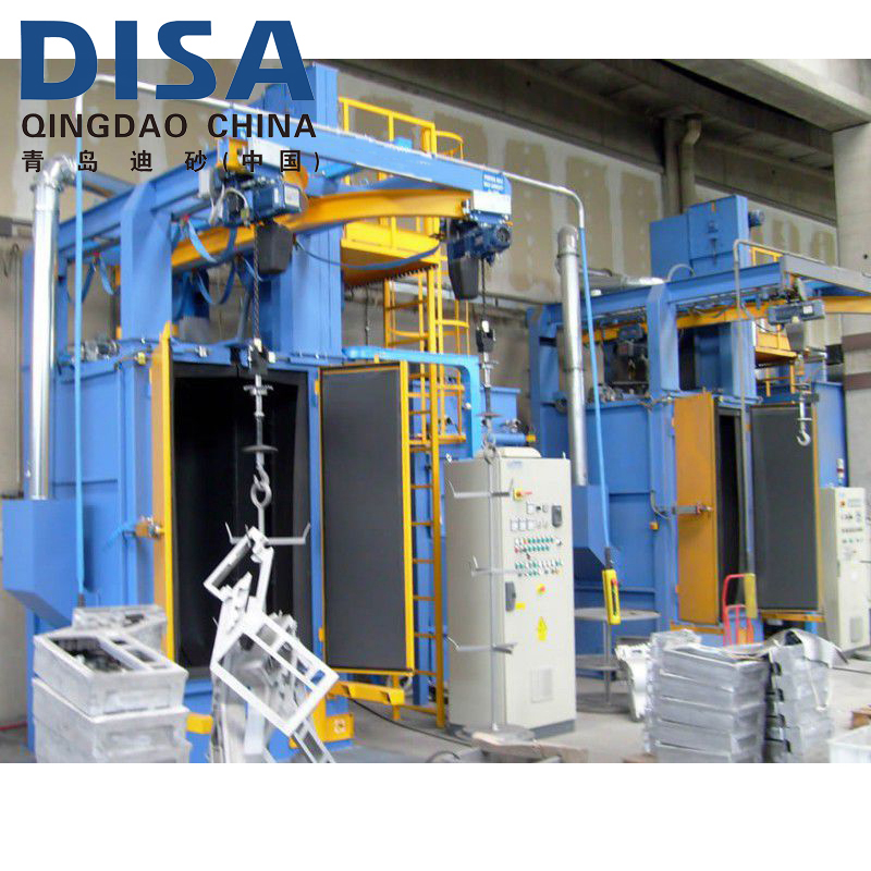 Qingdao DISA Spinner Hook Type Shot Blasting Machine for Bicycle frames