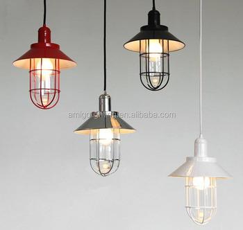 cheap cage pendant light modern chandeliers vp33 red black white
