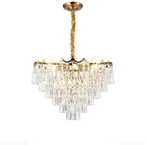 European Modern Iron Pendant Light Crystal Hanging Pendant Lamp For Hotel