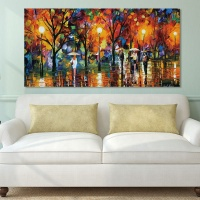 Drop shipping Abstract Light Umbrella Canvas Painting Wall Art Picture Home Decor Decoration print