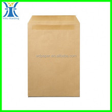 Yiwu New Arrived Adhesion Hard Brown Kraft Peal&Seal Envelopes