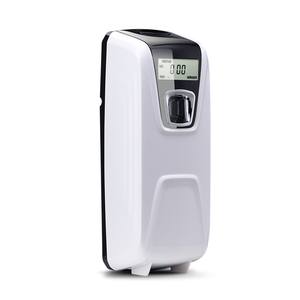 2 aa battery hotel bathroom hanging digital timing automatic motion lcd screen non aerosol air freshener aroma dispenser