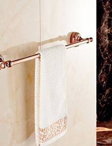 XP HOME Towel Bar Gold Wall Mounted 64cm*7.8cm*6.4cm(25.2*3.1*2.5inch) Brass / Zinc Alloy Neoclassical
