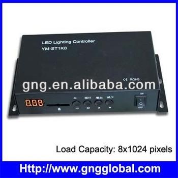 8x1024 Pixels Programmable Led Sd Card Dmx Controller