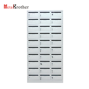 Office Building Used Indoor Decorative 30 Doors Mailbox Cabinet Free Standing Steel Apartment Outdoor Mailbox