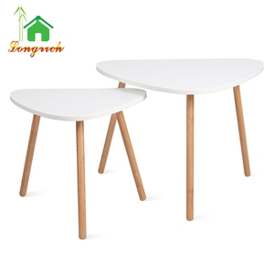 home furniture white round sofa coffee table corner table for living room set 2