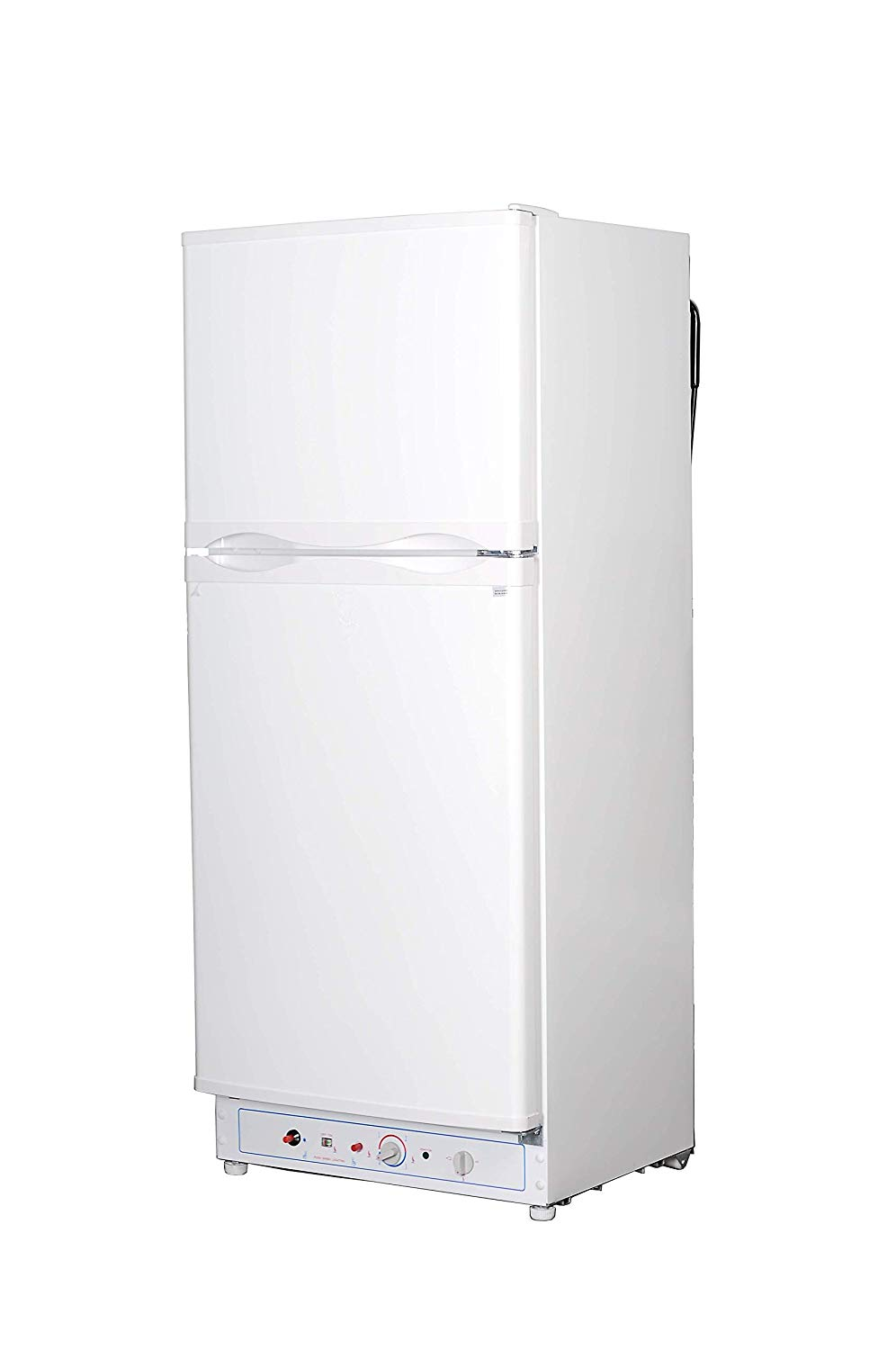 SMETA Electric Propane Absorption Refrigerator Double Door Fridge Freezer,110V/Gas 2-Way,6.1 cu ft