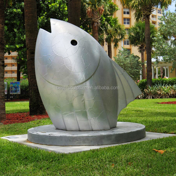 Modern Garden Large Stainless Steel Fish Sculpture For Sale - Buy Lawn  Sculptures For Sale,Metal Fish Sculptures,Modern Garden Sculptures Product  on