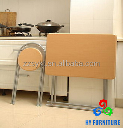 Modern kitchen furniture cheap foldable dining table sets with chairs