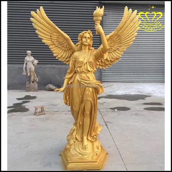 Unique Large Metal Bronze Sculpture Outdoor Garden Decorate Angel Statue  PS19