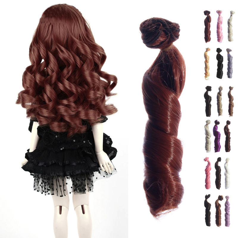 1 pcs free shipping BJD SD Doll Wigs hair DIY High temperature Wire Curly wave Wigs