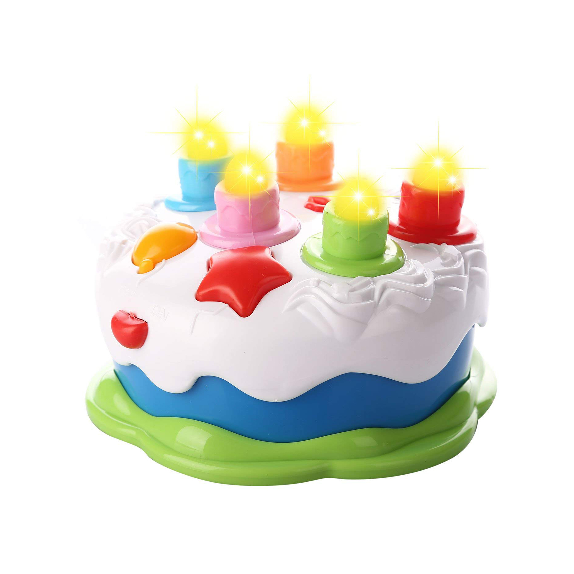 Fantastic Kids Birthday Cake Toy For Baby With Counting Candles Music Funny Birthday Cards Online Barepcheapnameinfo