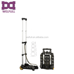 Aluminum Light Weight Compact foldable luggage hand trolley cart