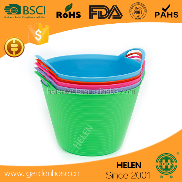 plastic bucket,PE garden tub,flexible tubtrug bukcets,Super shopping basket