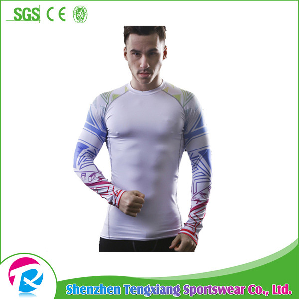 Top Selling Sports Fighting MMA Men Long Sleeves Rashguard