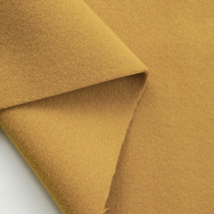 Textile supplier ginger double side winter coat polyester brushed fabric for women