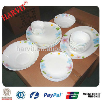 White Opal Glassware Tableware Dinnerware Sets With Rose Flowers/Thermal Shock Proof Leadu0026Cadmium Free African  sc 1 st  Alibaba & White Opal Glassware Tableware Dinnerware Sets With Rose Flowers ...