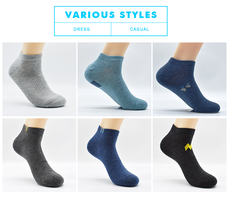 High Quality Thin Design Business Work Sports White Wholesale Cheap New Design Ankle Men Socks