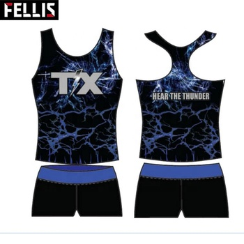 Wholesale Custom Design Your Own Sublimation Cheerleading Uniforms
