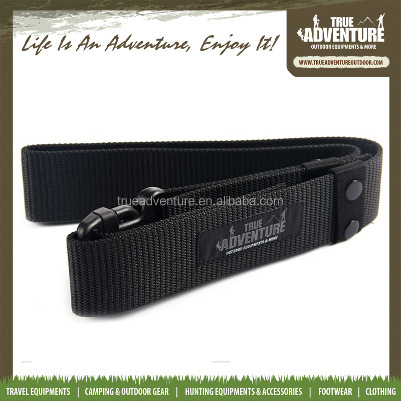 custom fashion green black Plastic buckle military nylon webbing camping army belt